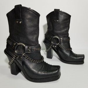 Lisa for Donald J. Pliner BBB Harness Moto Boots